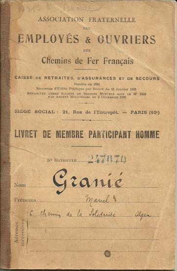 LA RETRAITE AU CHEMIN DE FER FRANCAIS EN ALGERIE